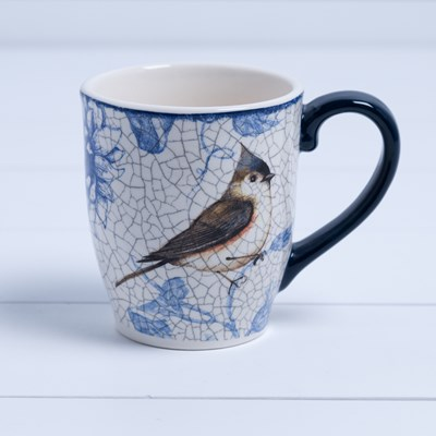 Stoneware Tufted Titmouse Mug