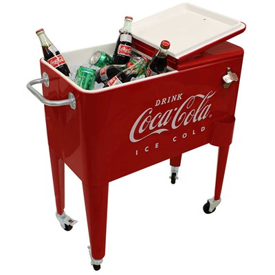 Vintage Style Embossed Coca-Cola ® 60-Quart Cooler