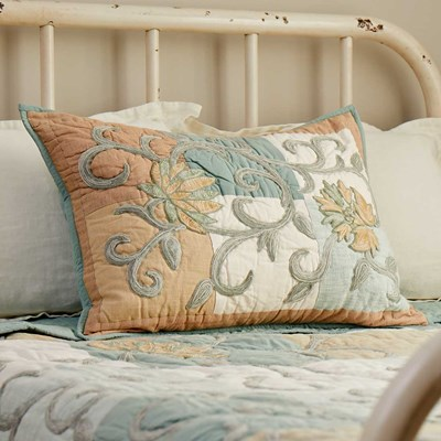 Embroidered Multi Patch Standard Sham