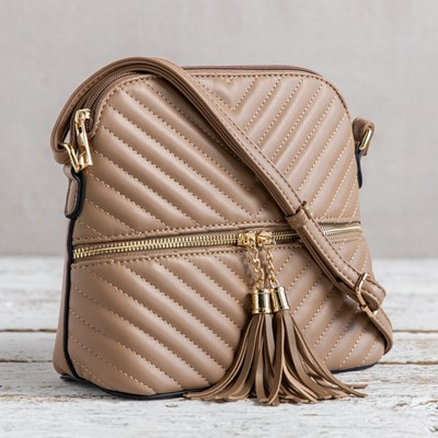 Brown Tassle Crossbody