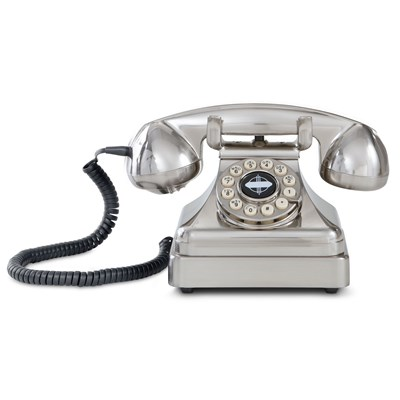 Crosley ® Kettle Classic Desk Phone - Brushed Chrome