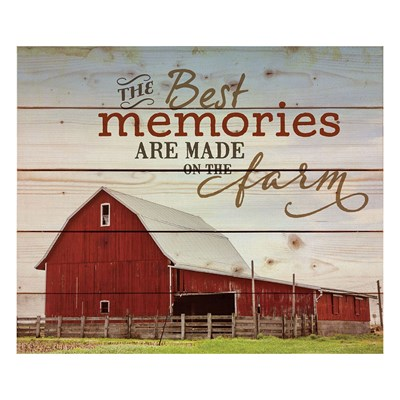 """The Best Memories"" Pine Pallet Wall Decor"