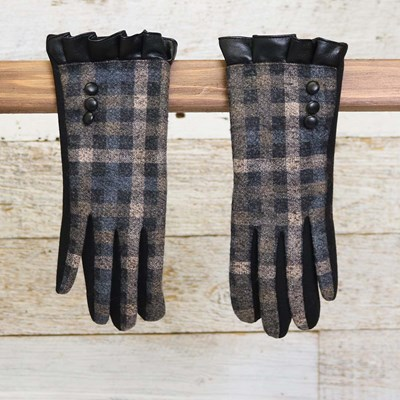 Black Plaid Glove
