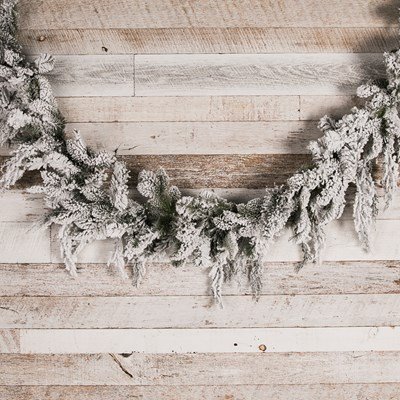 20' Flocked Pine Christmas Garland