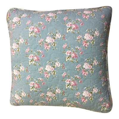 Gennie Blue Ruffle Pillow