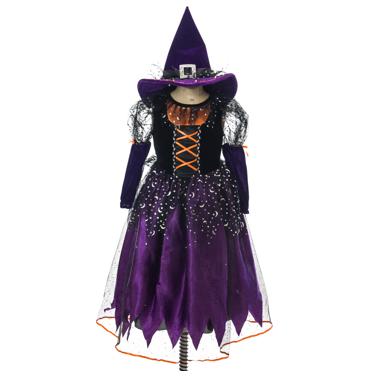 Youth Purple And Orange Witch Costume Collections Holidays Halloween Cracker Barrel