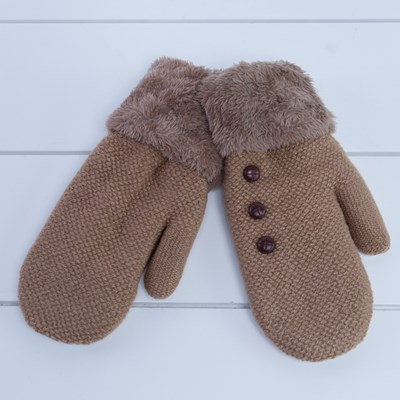 3-Button Mittens