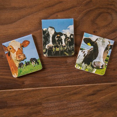 Cows Magnetic Bookmarks - 3 Pack