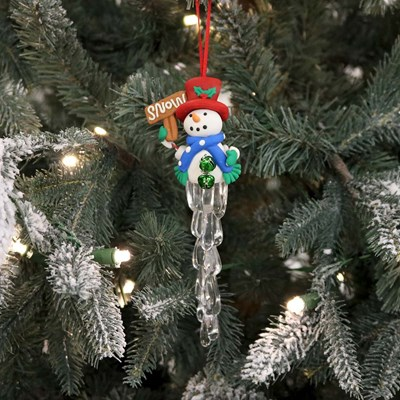 Snowman Icicle Ornament