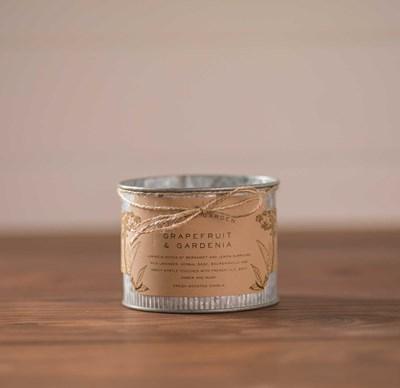 Rustic Corrugated Metal Candle