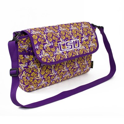 LSU - Bloom Messenger Crossbody Purse
