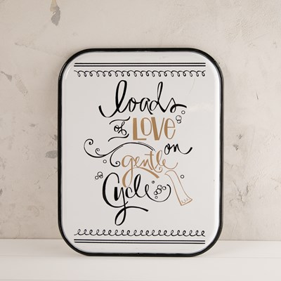 """Loads of Love"" Metal Wall Decor"