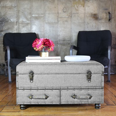 Linen Storage Trunk - Gray