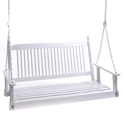4' Porch Swing - White
