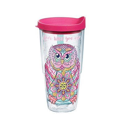 """Owl Whoo You Are"" 24 Oz. Tumbler"