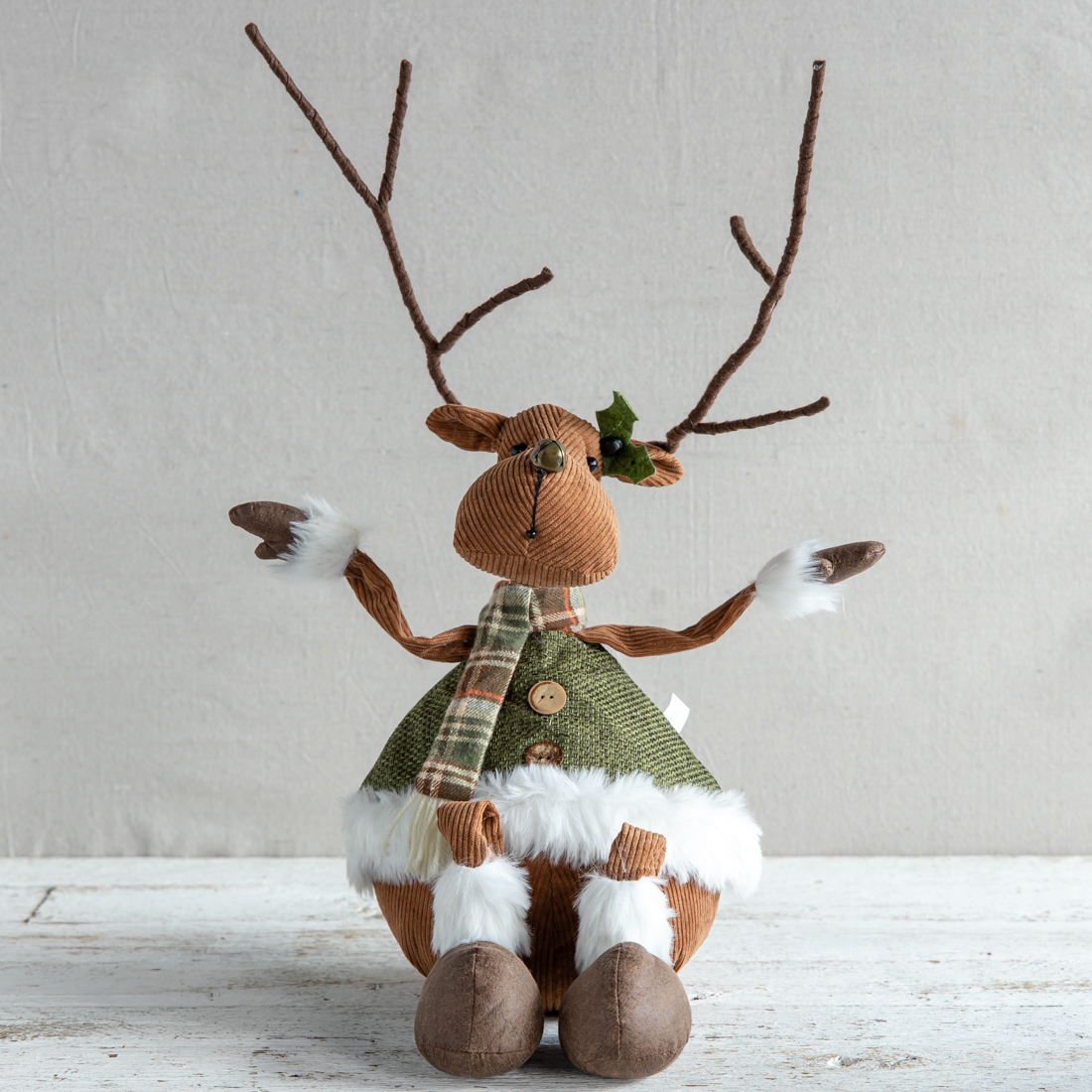 Fabric Deer Shelf Sitter
