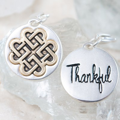 """Thankful"" Celtic Knot Charm"