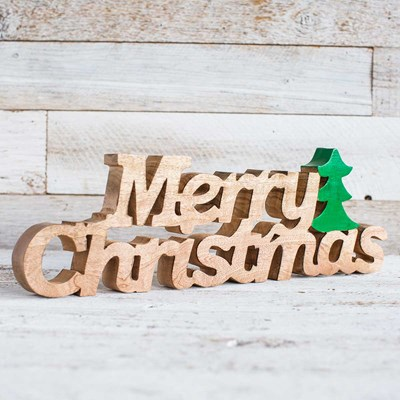 """Merry Christmas"" Wooden Word Decor"