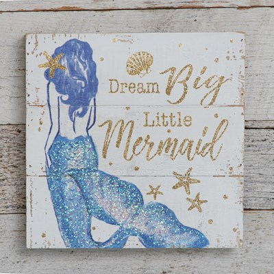Dream Big Little Mermaid Wall Decor
