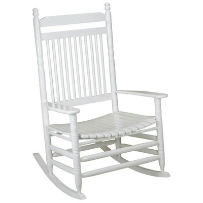 Jumbo Slat Rocking Chair - White