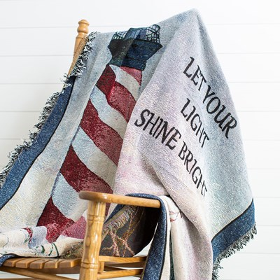 Jacquard Lighthouse Throw