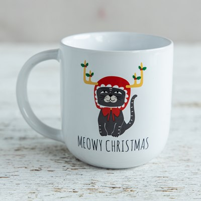 """Meowy Christmas"" Mug - 18oz"