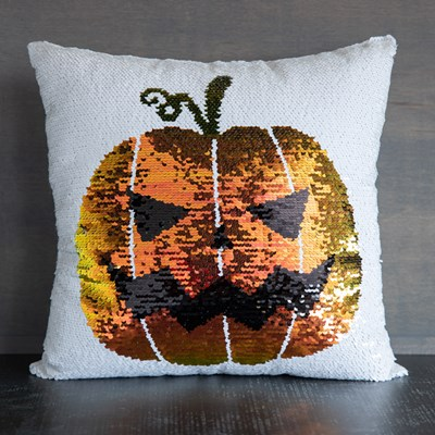 Pumpkin Reversible Sequin Pillow