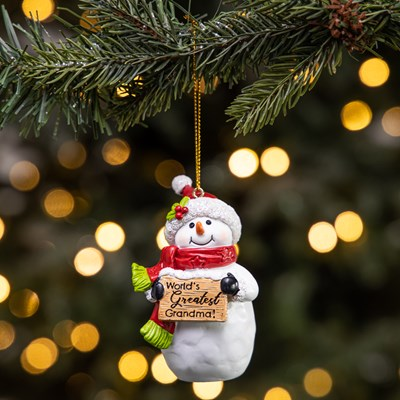 Greatest Grandma Snowman Ornament