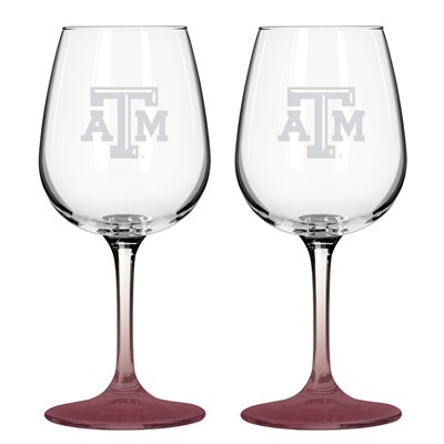 Wine Glass - Set of 2 - Texas A&M