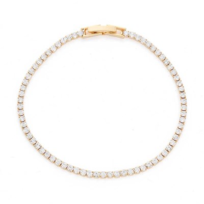 14KT Gold Plated Crystal Bracelet