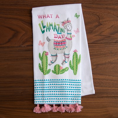 """Llamazing Day"" Kitchen Towel"