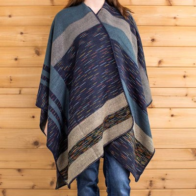 Stripe Blanket Shawl