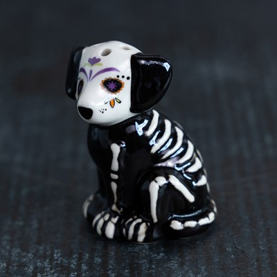 Mini Sugar Skull Dog Pepper Shaker
