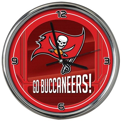 Tampa Bay Buccaneers Chrome Wall Clock