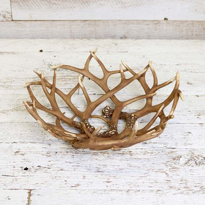 Decorative Faux Antler Bowl