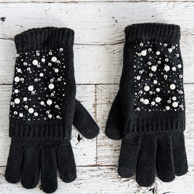 2-in-1 Black Pearl Gloves