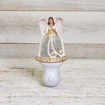 Angel Glitter Globe Night Light