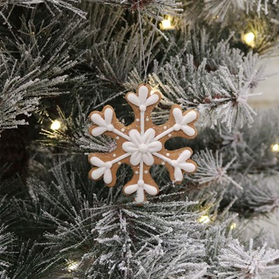 Clay Dough Snowflake Ornament