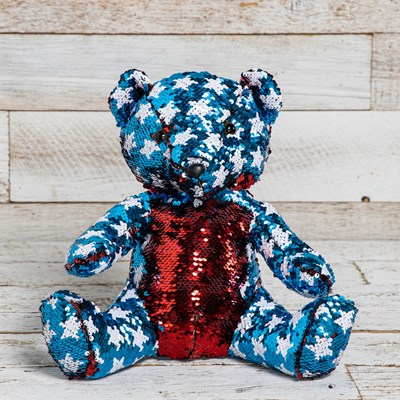 Patriotic Flip Sequin Bear