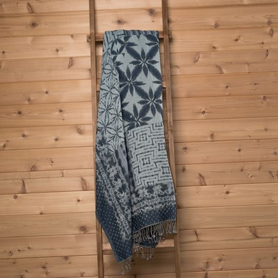 Blue Woven Throw