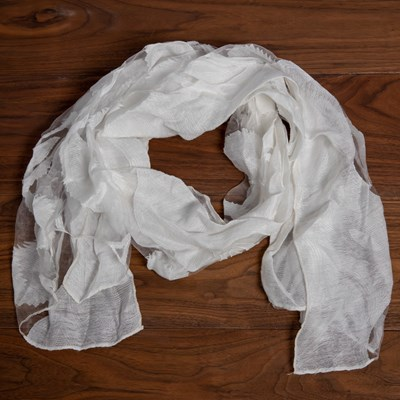 Burnout White Scarf