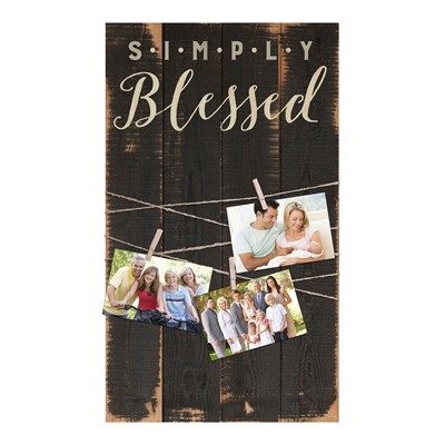 """Simply Blessed"" Photo Board Wall Decor"