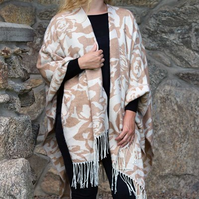 Neutral Floral Shawl