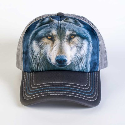 Warrior Wolf Trucker Hat