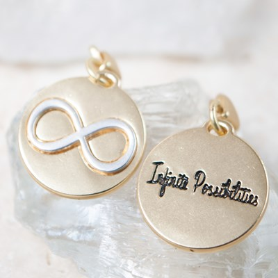 """Infinite Possibilities"" Infinity Sign Charm"
