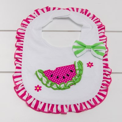 Watermelon Ruffles Bib