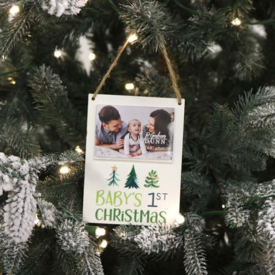 Baby's 1st Christmas Photo Frame Ornament