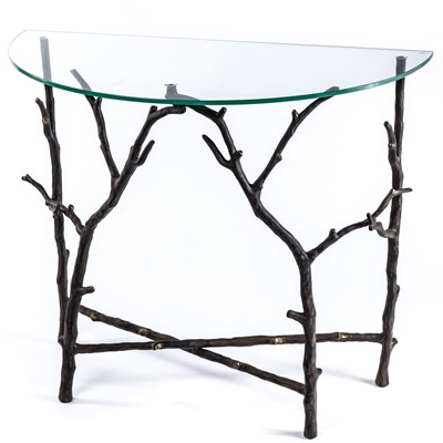 Aluminum Branch Console Table