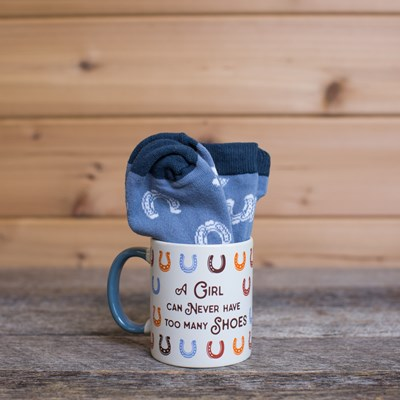 """Too Many Shoes"" Mug"