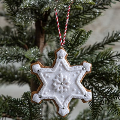 Oh Gussie! Claydough Closed Snowflake Ornament